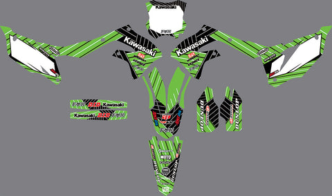 Kit Deco KAWASAKI KXF 450 2019 GREEN WHITE