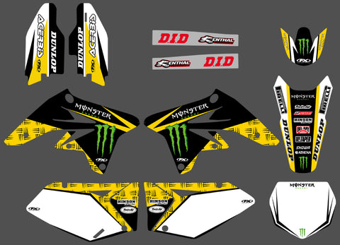 Kit Déco SUZUKI RMZ 250 2007-2009 MONSTER