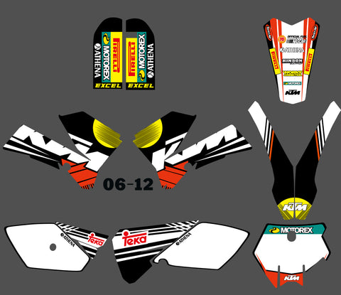 Kit déco KTM SX 85 2006-2012 SIMPLE RB