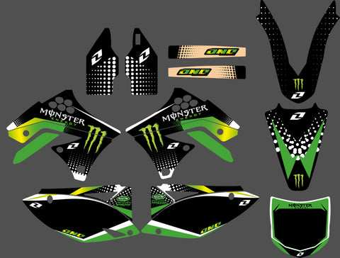 Kit Déco KAWASAKI KXF 250 2009-2012 MONSTER #3