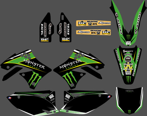Kit Deco KAWASAKI KXF 450 2009-2011 MONSTER #4
