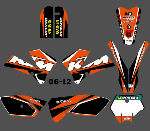 Kit déco KTM SX 85 2006-2012 ORIGINE WHITE