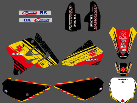 Kit Déco SUZUKI RM 85 2001-2017 RED YELLOW