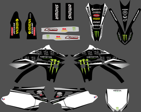 Kit Déco YAMAHA YZF 450 2010-2013 White Monster