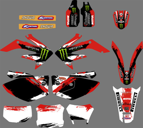 Kit déco HONDA CRF250X 2004-2016 MONSTER RED