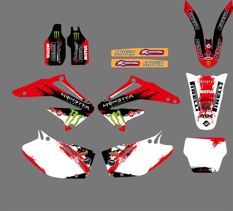 Kit Déco HONDA CRF 450 2002-2004 MONSTER RED #2