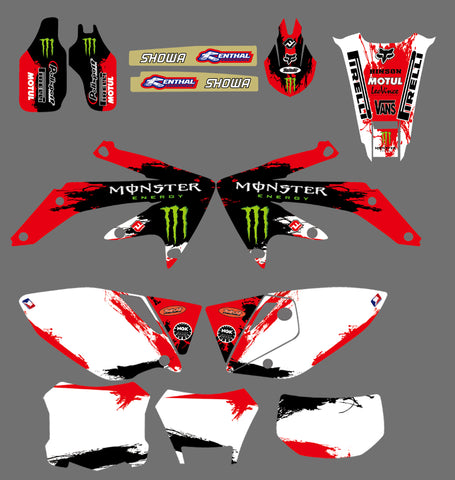 Kit déco HONDA CRF450X 2004-2016 MONSTER RED