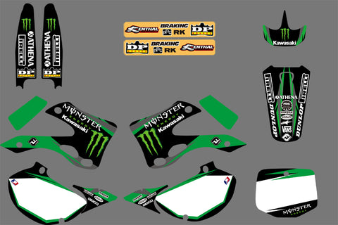 Kit déco KAWASAKI KX 125-250 1999-2002 MONSTER