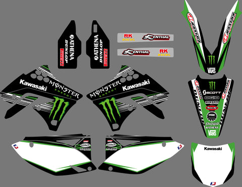Kit Déco KAWASAKI KXF 250 2009-2012 MONSTER #2