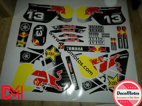Kit Deco Yamaha Dtr 125 1992-2003 Red Bull B