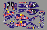 Kit déco YAMAHA YFM 350 RAPTOR RED BULL