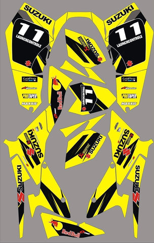 Kit Déco SUZUKI LTZ 400 2009-2012 ORIGINE YELLOW BLACK (modèle injection)
