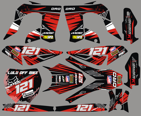 Kit Deco DERBI DRD PRO RED FACTORY
