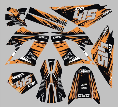 Kit Déco DERBI DRD RACING 2004-2009 ORANGE