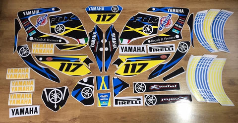 Kit Deco Yamaha DTR DTX 125 2004-2006 FOX BLUE YELLOW