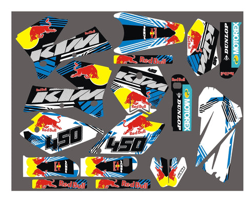 Kit Déco KTM EXC SX 2001-2007 RED BULL