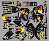 Kit Déco YAMAHA YZF 250-450 2003-2005 Red bull black