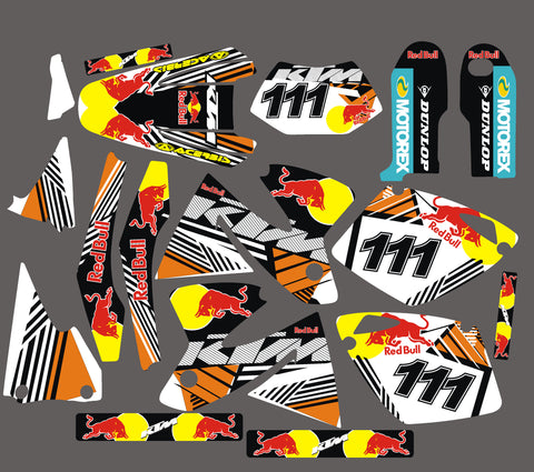 Kit Déco KTM EXC 1998-2003 RED BULL #2
