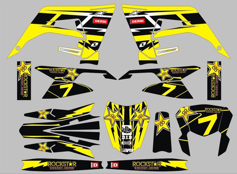 Kit Déco DERBI X-TREME RACING 2018-2020 YELLOW