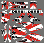 Kit Déco DERBI XTREME XRACE AVANT 2011 WHITE STAR