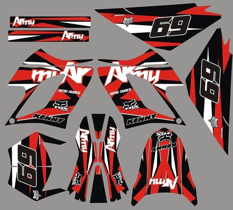 Kit Déco DERBI DRD RACING 2004-2009 ARMY RED
