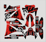 Kit déco YAMAHA XT 660 AVANT 2006 BLACK RED