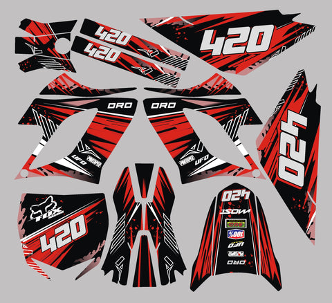 Kit Déco DERBI DRD RACING 2004-2009 RED