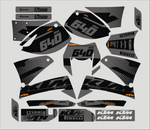 Kit Déco KTM 640 LC4 BLACK GREY