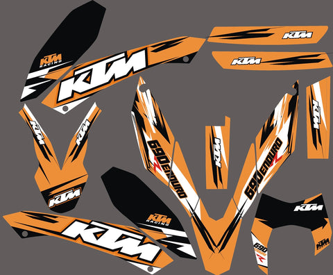 Kit Déco KTM 690 SMC 2008-2011 ORANGE SIMPLE