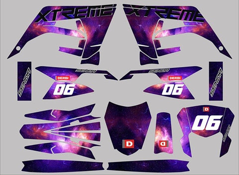Kit Déco DERBI X-TREME RACING 2018-2020 GALAXY