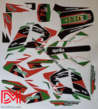 Kit Déco Aprilia Mx 125 Red Green