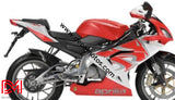 Kit Déco Aprilia Rs 125 Apres 2006 Lion Rouge