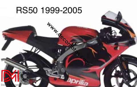 Kit Déco Aprilia Rs 50 1999-2005 Diablo Red