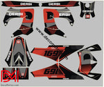 Kit Deco Derbi Carénages Victoria Bull Tunr Grey Red