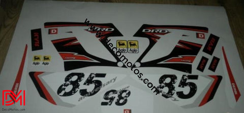 Kit Déco Derbi Drd Racing 2004-2009 85Th Anniversary Rouge (Uniquement Les 2 Ouies)