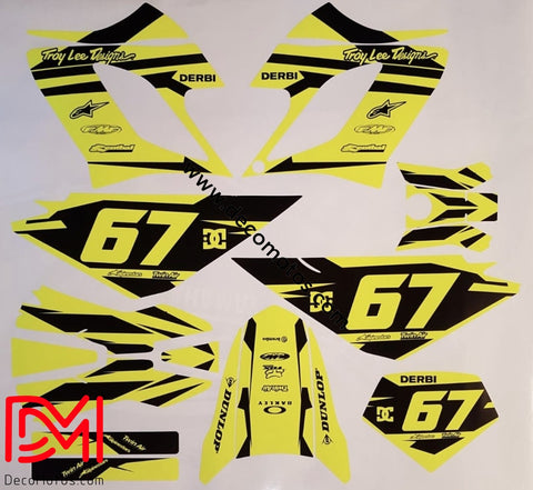 Kit Déco Derbi Drd Racing 2004-2009 (Fluo En Option)