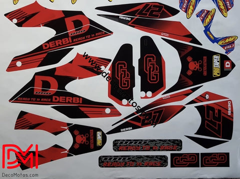Kit Deco Derbi Senda Drd 125 Sm Red