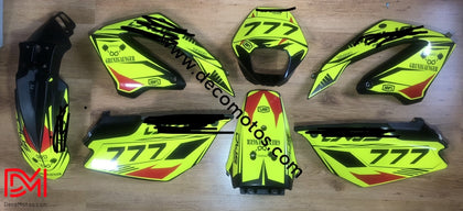 Kit Deco Derbi Senda Sm 125 Baja Fluo