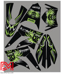 Kit Déco Derbi Xtreme / Racing Apres 2011 Limited Green
