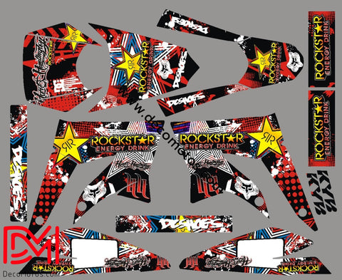 Kit Deco Derbi Xtreme / Racing Apres 2011 Rockstar