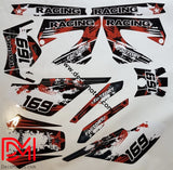 Kit Déco Derbi Xtreme Xrace Avant 2011 Red Racing