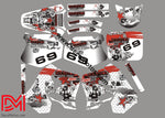 Kit Déco Honda Cr 125 - 250 1992-1994 White Rockstar