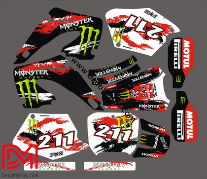 Kit Déco Honda Cr 125-250 2000-2001 Monster