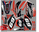 Kit Déco Honda Crf 250 2006-2007 Red