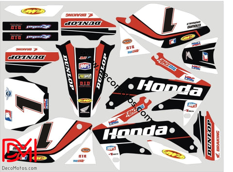 Kit Déco Honda Crf 250 2006-2007 White