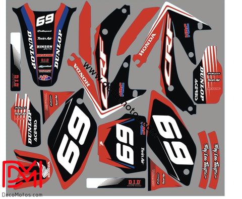 Kit Déco Honda Crf 450 2008 Red