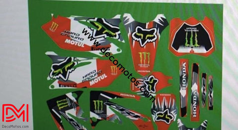 Kit Déco Honda Crf 450 2010 Fox