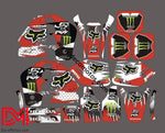 Kit Deco Honda Crm 1995 Fox Monster