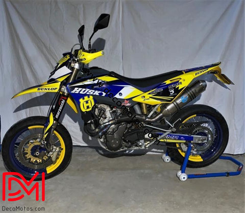 Kit Déco Husqvarna 610 Sm 2009 / 630 Smr Blue Yellow