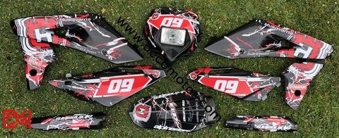 Kit Déco Husqvarna 610 Sm / 630 Smr 2009 Black Red